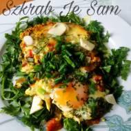 Szakuszka - jajka gotowane na pomidorach - śniadanie
