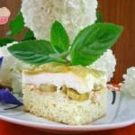 Ciasto rabarbarowe z pianką