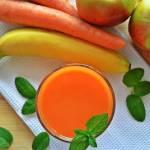 Sok marchewkowy z jabłkami i bananem - #wyzwanie5porcji