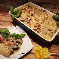 Filet w pysznym sosie z pieczarkami