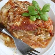 Zapiekana cykoria (z metką cebulową i sosem pomidorowym)