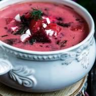 Zupa z botwinki z feta