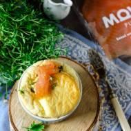 Suflet z wędzonym łososiem i gorgonzolą