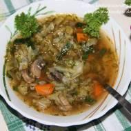 Wegańska zupa kapuściana
