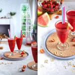 Koktajl z arbuza i truskawek