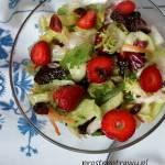 Mix sałat z truskawką