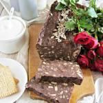 Tradycyjny blok czekoladowy ze słonecznikiem