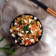Ryż z indykiem i warzywami