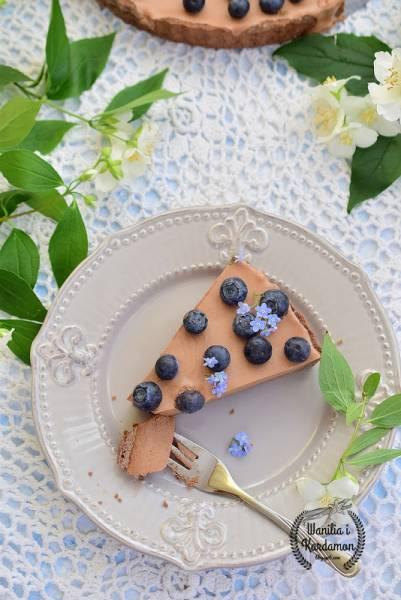 Tarta czekoladowa z borówką