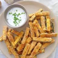 Pieczone frytki z cukinii (Bastoncini di zucchine al forno)