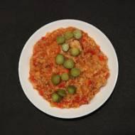 Risotto z mięsem mielonym, chili i papryką