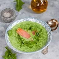 Zupa z rukoli z wędzonym łososiem
