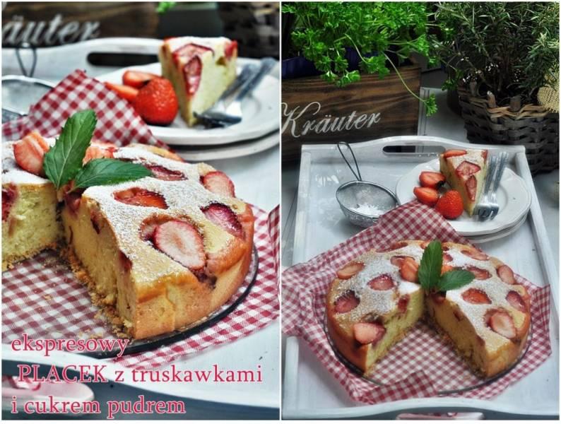 Najłatwiejsze ciasto z truskawkami