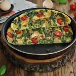 Bazyliowy omlet ze szparagami po włosku