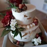Tort śmietankowy weselny