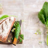 Chleb żytni na zakwasie z liściem chrzanu / Sourdough rye bread with horseradish leaf