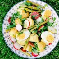 Poniedziałek: Sałatka z młodych ziemniaków z winegretem miodowo-musztardowym