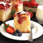 Ciasto z kefirem i truskawkami. Przepis krok po kroku