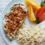 Grillowany kurczak z suszonymi pomidorami i czosnkiem