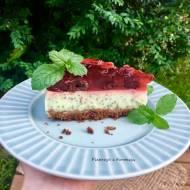 Ciasto z jogurtów naturalnych i nasion chia na czekoladowym spodzie