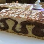 Ciasto Czekoladowe z kulkami serowo kokosowymi