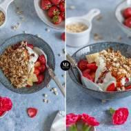 Fit śniadanie, czyli jogurt z owocami i domową granolą