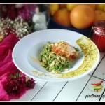 Tagliatelle z pistacjowym pesto