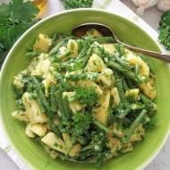 Sałatka ziemniaczana z fasolką szparagową (Insalata di patate e fagiolini)