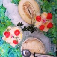 Sorbet z melona miodowego z rozmarynem i arbuzem