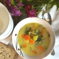 Wiosenna zupa z kalarepy z młodymi ziemniakami i marchewką