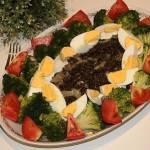 Czarna soczewica z brokułem