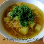 Zupa z cukinii z soczewicą