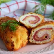 Roladki drobiowe z salami i serem
