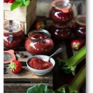 Dżem truskawkowo rabarbarowy z imbirem