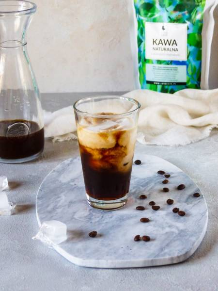 Kawa mrożona z syropem klonowym