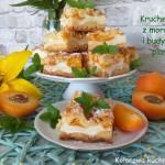 Kruche ciasto z morelami i budyniową pianką