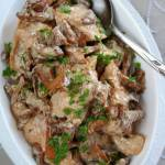 Kurczak (filet) z kurkami
