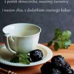 Czarne kulki mocy, czyli praliny słonecznikowo-żurawinowe, bezglutenowe, wegańskie i bez cukru