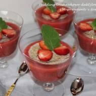 Pudding truskawkowo-daktylowy z tapioki