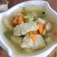 Zupa warzywna z morszczukiem