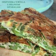 Hiszpańska tortilla z zielonymi szparagami