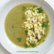 Kremowa zupa szczawiowa.