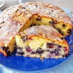 Migdałowe ciasto z borówkami (Torta con mirtilli e mandorle)
