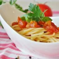Szybkie spaghetti z pomidorami
