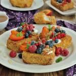 Migdałowe tosty z owocami