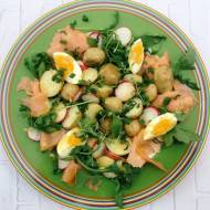 Piątek: Sałatka z łososia i młodych ziemniaków