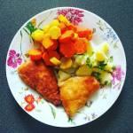 Obiad na szybko - ryba z marchewką curry