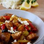 Podpiekane ziemniaki z kurczakiem gyros
