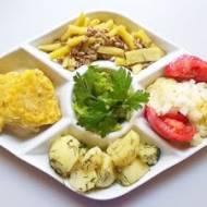 Letni obiad wegetariański VI + ciasto z truskawkami