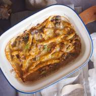 Fasolka zapiekana z grzybami i serem / Green bean mushroom and cheese bake